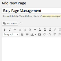 Easy Page Management