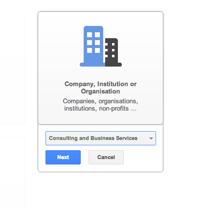 Google Plus Business Subcategory
